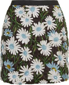 Daisy sequin mini skirt