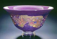 Hyacinth Blossom Bowl: Ingrid Hanson, Ken Hanson: Art Glass Bowl - Artful Home