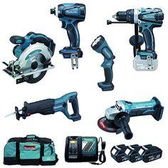 MAKITA Pack 6 outils Li Ion 18 V 4Ah  LXT - DLX6003M
