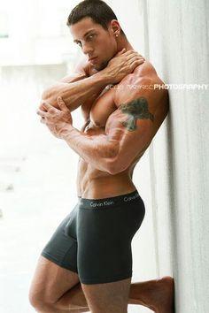 Jason Borish, male fitness model | © Luis Rafael ► www.facebook.com/luisrafael4photos # pecs six pack abs hunk men nice arms bare chest hot guy male body shirtless musculoso