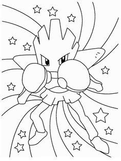 pokemon hitmonchan coloring page sketch coloring page