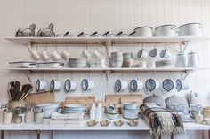 Workshop has an extensive line of dishwasher-safe white enamelware.