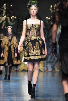 Lace, brocade and Sicilian Glamour at Dolce & Gabbana AW12 show at Milan Fashion Week