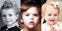 royalmontages:  Swedish Heirs-Prince Carl Gustaf (now King), Crown Princess Victoria, Princess Estelle