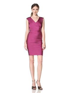 56% OFF Marc New York Women\'s Surplice Zip Dress (Purple)