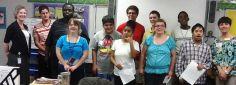 Congrats! Students from The Paul B. Stevens School Countryside Library receieved their volunteer certificates with Clearwater Countryside Library Branch Manager Tracey Reed and Clearwater Public Library System Volunteer Coordinator Teri Clennan.