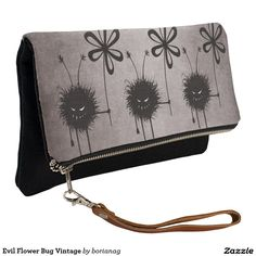#Evil Flower Bug Vintage #Halloween #Clutch