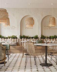 Cafe Shop Design, Restaurant Interior Design, Shop Interior Design, Italian Interior Design, Deco Restaurant, Modern Restaurant, Modern Cafe, Italian Cafe, Café Bar