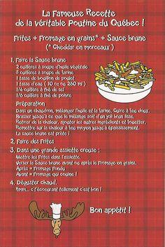 Recette de poutine du Québec!