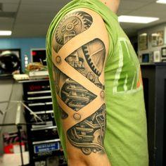 Biomachanical Half Sleeve by Joel Menter @ Hyperion Tattoo in New York - Imgur
