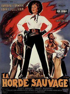 THE MAVERICK QUEEN - Barbara Stanwyck - Barry Sullivan - Scott Brady - Mary Murphy - Republic Pictures.