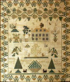 Marguerite Godfray, 1835, Michigan Territory, silk on linen