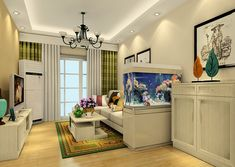 Take a look in 14 aquarium ideas for your living room, that we have chosen just for you!