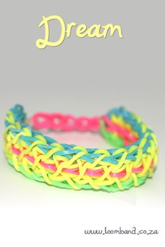 Dream loom band bracelet