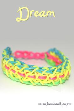 Dream loom band bracelet