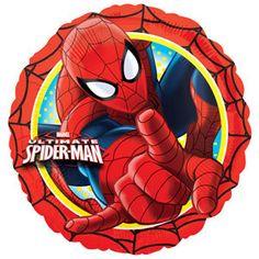 Party Time Celebrations  - Spiderman Party Foil Balloon, $7.95 (http://www.partytimecelebrations.com.au/spiderman-party-foil-balloon/)