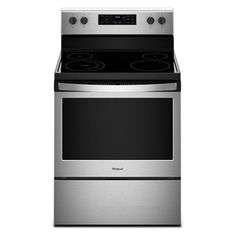 Shop Whirlpool cu ft Electric Range with Self-cleaning Oven (Stainless Steel) at Lowe's Canada online store. Find Electric Ranges at lowest price guarantee. 4 Elements, Self Cleaning Ovens, Large Oven, Single Oven, Stainless Steel Oven, Glass Cooktop, Oven Range