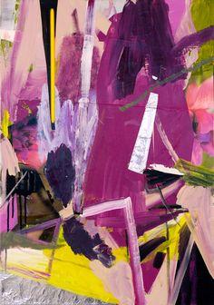 rob nadeau painting, purple, yellow, black