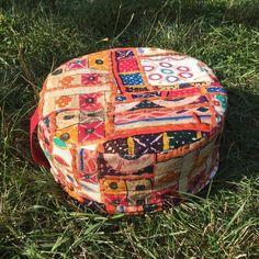 Meditační sedák plněný pohankovými slupkami oranžová kombinace + dárek Outdoor Furniture, Outdoor Decor, Pilates, Ottoman, Chair, Home Decor, Pop Pilates, Stool, Interior Design