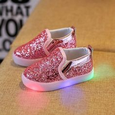 Slip-On  N  Be Dazzled Toddler Kids LED Luminous Shoes. Baby SneakersGirls  SneakersBoys ... af26be0b51b1