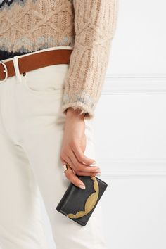 See By Chloé - Metal-trimmed textured-leather wallet d7cf4719fa1
