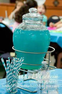 Under the Sea/ Mermaid Birthday Party mermaid turquoise lemonade punch