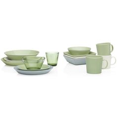 Celadon green Teema tableware by Iittala. Table Accessories, Kitchen Accessories, Scandinavian Living, Scandinavian Design, Kitchenware, Tableware, Best Dishes, Dinner Sets, Nordic Design