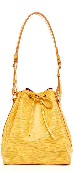 d4e0d7102c66 Louis Vuitton ~ Summer Canary Yellow Leather Bucket Bag 2015 Louis Vuitton  Handbags