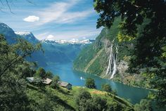Geiranger Fjord in Norway - spectacular views, great hiking.