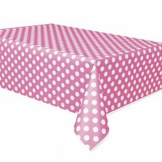 Hot Pink Polka Dot Plastic Party Table Cover