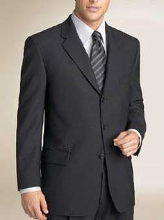 100 Percent Pure Merino Wool - Black Suit : Custom Suits,  | Shirts | Sport | Coats | Tailor