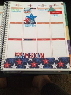 My Fourth of July for Erin condren planner. Love to decorate!!!