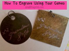 How to engrave using your silhouette cameo!!!! Did you know you could do this? One simple $8 tool/pen and you're on your way to personalizing metal, ceramic, glass... almost anything!