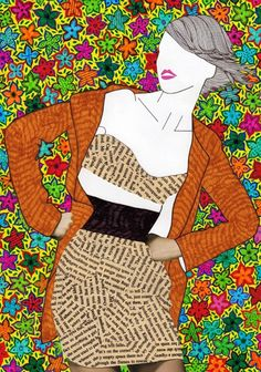 Mixed Media Girls by Nikki Farquharson - Artists Inspire Artists