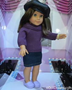 Upcycle old jeans to make this easy no  sew denim skirt for dolls
