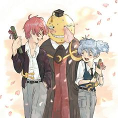 I love Assassination Classroom. It's not the usual anime that you see. And rather than chosen one, it's a chosen group - bunch of teens too. - DA | Karma Akabane | Nagisa Shiota | Koro-sensei | Assassination Classroom