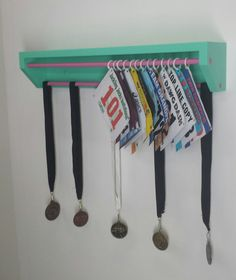 Trendy Running display for race bibs ...TrendyDisplay at etsy.com