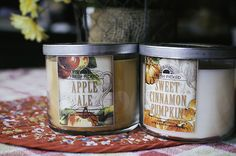 Fall candles candles autumn