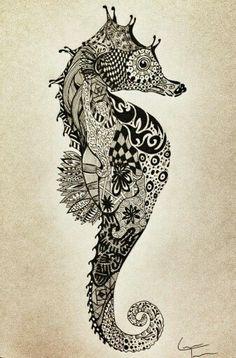 Seahorse tat design