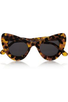 ILLESTEVA + Zac Posen cat eye tortoiseshell acetate sunglasses
