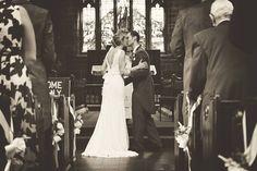 Beautiful church, beautiful wedding, beautiful couple. #blackandwhite