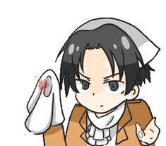 """Levi « Nettoyage de Printemps """"løl"""" » ㋡ ~ Livaï Ackerman(Rivai Akkāman, (souvent romanisé à tort en Rivaille), aussi appeléLevidans la version anglaise) est un brillantSoldatainsi que le CapitaineduBataillon d'exploration. ~ Série Manga Anime : L'attaque des Titans ~ [✨GiF✨]"""