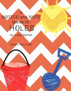 This is my NOTICE AND NOTE guide to HOLES by Louis Sachar. I have included a special note to the teacher and detailed explanations for each of the six signposts I found in the text.Here is a resource for whole class instruction, to review signposts, in conferences, etc.Brought to you by Fab in 5thFor more information on how I use this product and signposts check out my blog at: http://www.fabin5th.blogspot.com/.