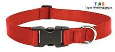 dog collar in stylish red colour at discounted price. Hurry up !! Visit to our website to buy this. For more details click on the below link or call us on +9833884973/9323558399 http://tapeswebbingstraps.in/product-category/dog-collars/