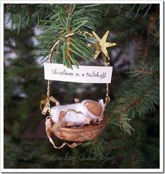 Christmas ornament babyJesus.... Christmas in a Nutshell