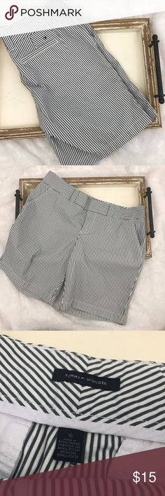 Tommy Hilfiger Bermuda Chino Shorts Sz 10 Striped Navy and white classic Tommy Hilfiger colors! Bermuda shorts in size 10. No stains or holes. Thanks for shopping our closet! Tommy Hilfiger Shorts Bermudas