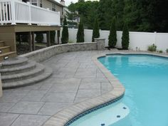 If you are working with the best backyard pool landscaping ideas there are lot of choices. You need to look into your budget for backyard landscaping ideas Concrete Patios, Concrete Patio Designs, Concrete Stone, Pool Paving, Pool Landscaping, Landscaping Company, Patio Fence, Patio Roof, Pergola Roof