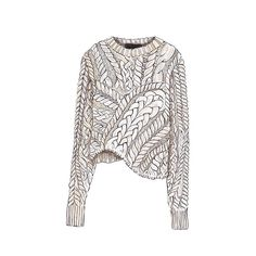 """Good objects """"Isabel Marant"""" Interesting illustration style for knits, shows lots of details Knitwear Fashion, Knit Fashion, Sweater Fashion, Fashion Art, Fashion Design Drawings, Fashion Sketches, Dress Sketches, Drawing Fashion, Isabel Marant"""