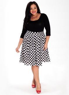 Loretta Skirt in Downtown Dot