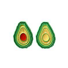 Avocado two pin set - Open Edition